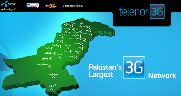 Telenor 3G Coverage Reached 60 Cities of Pakistan