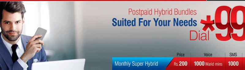 Warid Monthly Hybrid Bundle