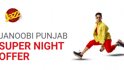 Jazz Janoobi Punjab Super Night Offer