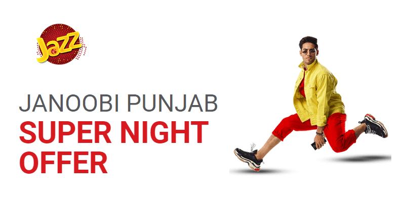 Jazz Janoobi Punjab Super Night Offer