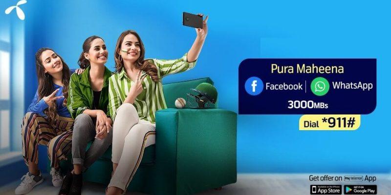 Telenor Monthly Facebook & Whatsapp